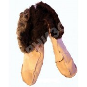Носки меховые дубленые белого цвета (размеры 36 и 37)